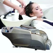 limpeza de cabelo cama de massagem