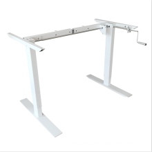 2 legs Sit to stand Manual ergonomic height adjustable desk frame