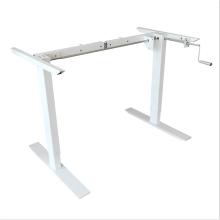 2 ноги сидеть, стоять ручной эргономичный стол с регулируемой высотой, каркас