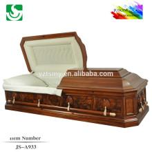 JS-A933 bem vendendo resonable preço caixão de madeira
