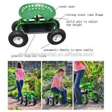 carro del asiento del trabajo del jardín acero