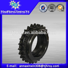 Duplex sprocket with black oxide treatment (35-2,40-2,50-2,60-2,80-2,100-2)