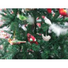 Adornos de vidrio para pájaros con detalles en brillo festivo