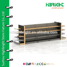 supermarket commercial wooden metal shelf