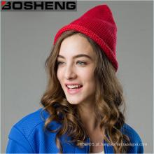 Mulheres malha de lã crochet inverno quente Cloche Beret Beanie Hat