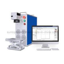 Máquina de gravura do laser da fibra de 50W Alemanha Ipg / mini máquina gravura profunda do laser para o aço