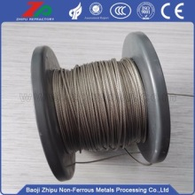 High-temperature good tensile tungsten rope