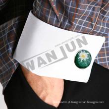 Único personalizado aço inoxidável Cufflink para presente Mens