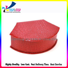 Luxury Red Leather Cover Paper Gift Boxes Jewelry Boxes