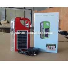 Lâmpada de mão estilo plástico lanterna solar de emergência carregador de rádio