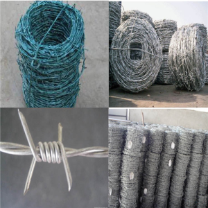 2016 Galvanized Barbed wire Barbed wire fence