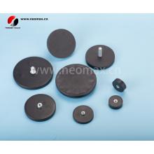 Супер сильные магнитные крючки, резиновые покрытые магнитами банка