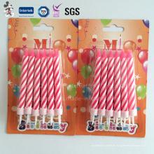 Populäre neue personalisierte professionelle China Taper Geburtstag Kerze zu produzieren