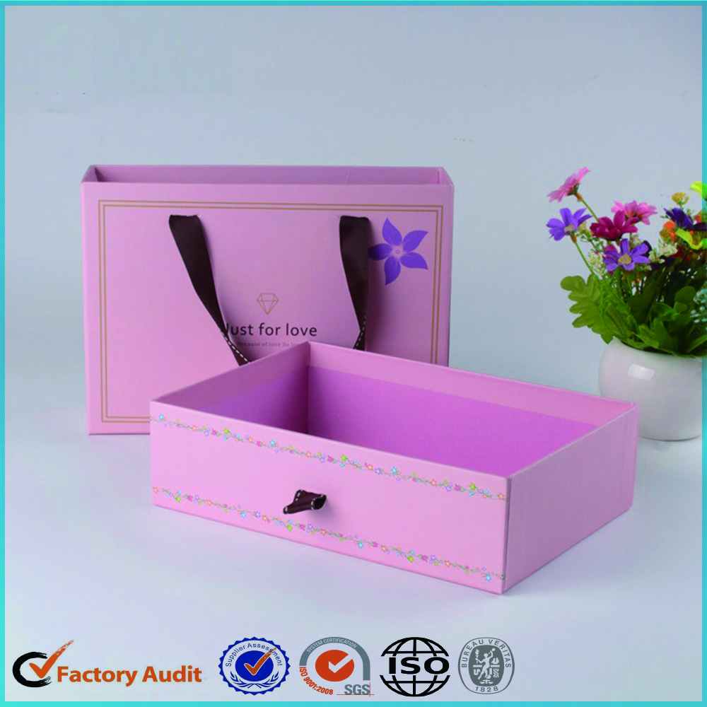 Custom Sliding Shoe Box Dimensions With Handle