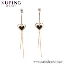 94903 fashion earring designs new model earrings gold plated heart tassels shape women dangle earrings
