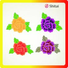 High quality flowers embroidery patches