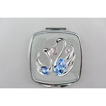 Espelhos de lado cisne azuis