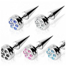 Muti Color Gem Paved Fake Taper Expander