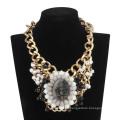 Big Queen avec collier chaîne et pierres chaudes (XJW13601)