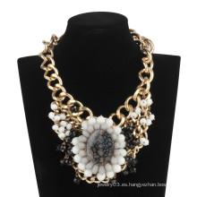 Big Queen con cadena caliente y collar de piedras (XJW13601)
