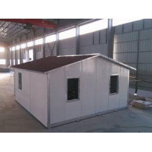 Sloping Roof Prefabricated Steel House Waterproof For Wareh
