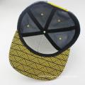Embroidery logo fashion flat brim 5 panel snapback cap
