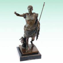 Roman Soldier Metal Home Deco Caesar estatua de escultura de bronce Tpy-440