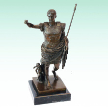 Roman Soldier Metal Home Deco Caesar Bronze Sculpture Statue Tpy-440