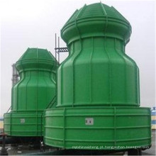 Torre refrigerando de alta temperatura da indústria redonda da água FRP, tipo circular pequeno da garrafa 10T