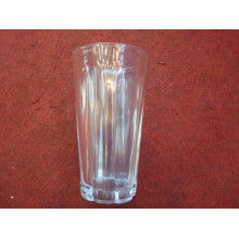 Стеклянная чашка Стеклянная посуда Стеклянный стаканчик с тиснением Стекло виски (KB-HN0531)