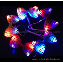 OEM Hot Sale Party Flashing LED Sequin Bow Tie Bowtie
