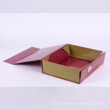 Caja de solapa de cartón de cierre magnético de embalaje personalizado