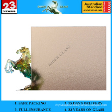 3-8mm Bronze Nashiji Pattened Figured Glass with AS/NZS2208: 1996