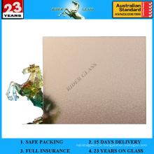 3-8mm Bronze Nashedic Pattened Figured Glass com AS / NZS2208: 1996