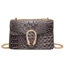 Vintage Fashion Crocodile Pattern Leather Bags Small Women′ S Single Shoulder Bag