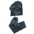 Camo polyester(taffeta) pvc stitching raincoat