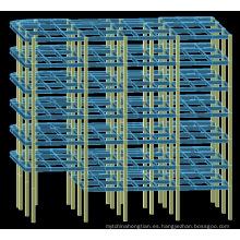Edificio de estructura de acero de pre-ingeniería de varios pisos