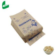 Braune kraftfette Papiertüte für Mikrowellen-Popcorn