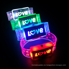 nuevo producto cartas de amor led braceket para boda