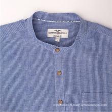 Vente en gros Jeans Bleu Denim Hommes Chemises