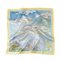 custom 100% pure 6A mulberry silk scarf