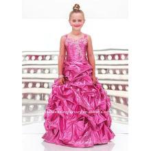 Аппликация из бисера на заказ pageant платье девушки цветка платья CWFaf3354