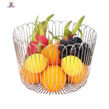Cesta de frutas oca de aço inoxidável