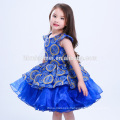 2017 Wholesale New Style Green Blue Red Color Girls Gender and Breathable Feature Flower Girl Dress Patterns
