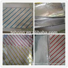 Feuille de papier alimentaire en aluminium utilisation de la cuisine pop up foils