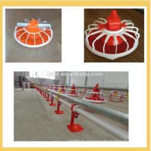 Hot Sale Chicken Farm Equipment Floor Pan Feeding and Nipple Drinking System