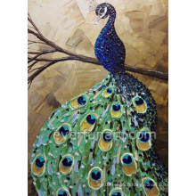 Handmade Knife Animal Peacock Oil Painting