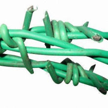 PVC-coated Barbed Iron Wire, Suitable for Industry, Agriculture and Animal Husbandry