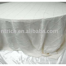 Taffeta Pintuck table linen,hotel/banquet tablecloth
