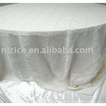 Tafetán del Pintuck lino de tabla, mantel del banquete del hotel